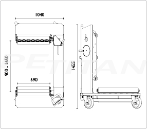 AC Hydraulic WT1500N keréktargonca 8