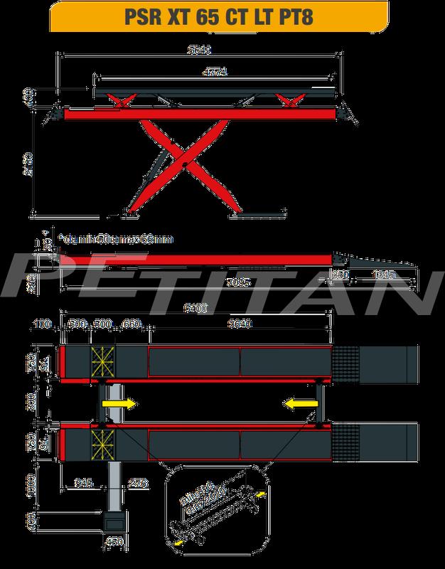 Sice PSR XT65 CT LT ollós emelő (6,5 t) 4