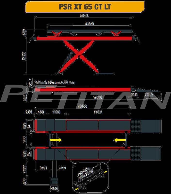 Sice PSR XT65 CT LT ollós emelő (6,5 t) 3