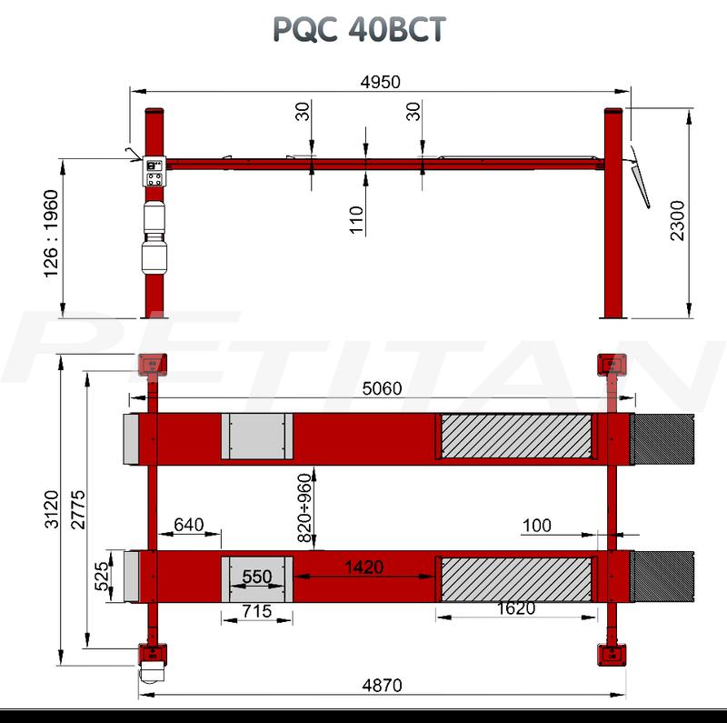 Sice PQC 40B négyoszlopos emelő 3