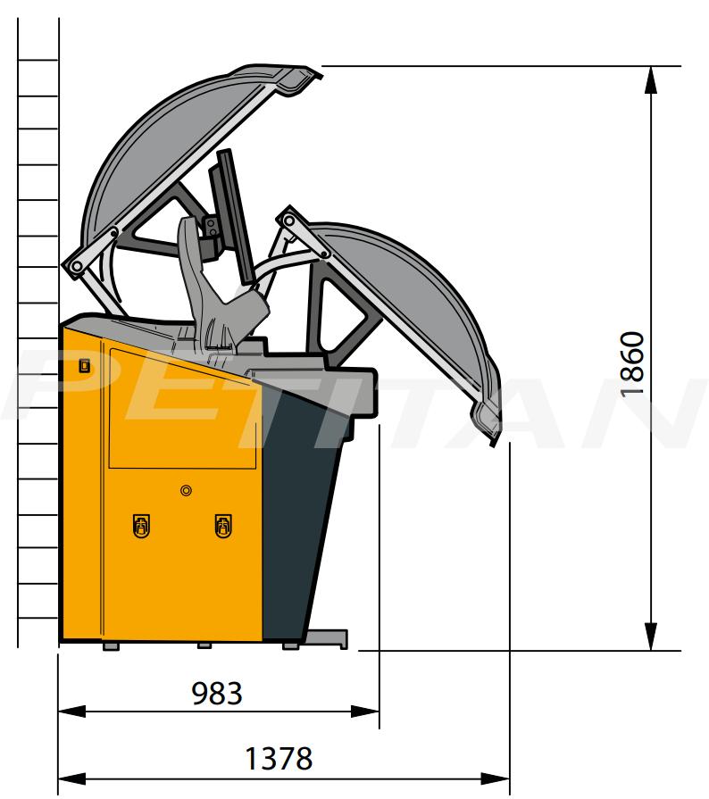 Sice S78E C Touch személy kerékkiegyensúlyozó 3