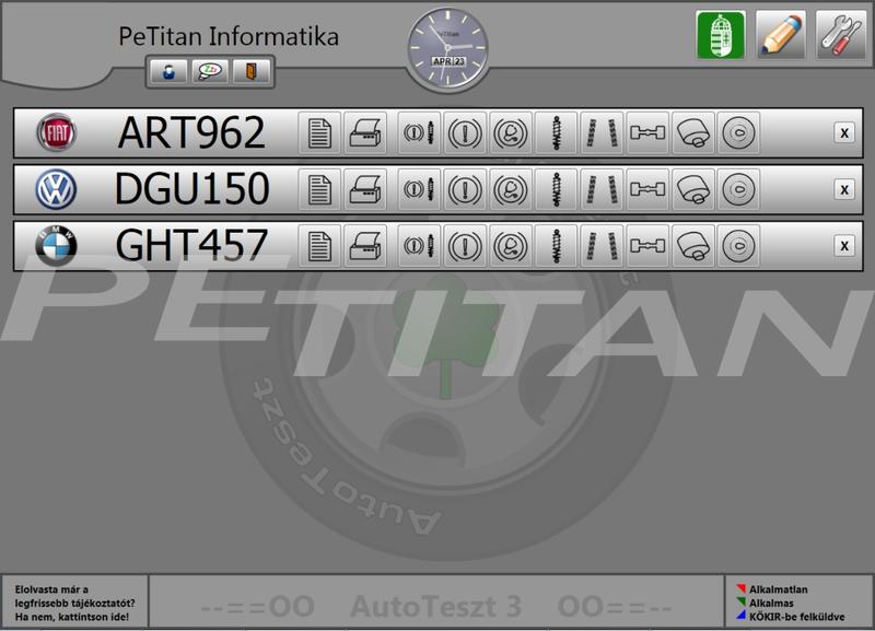 PeTitan AutoTeszt 3 mérőszoftver 1