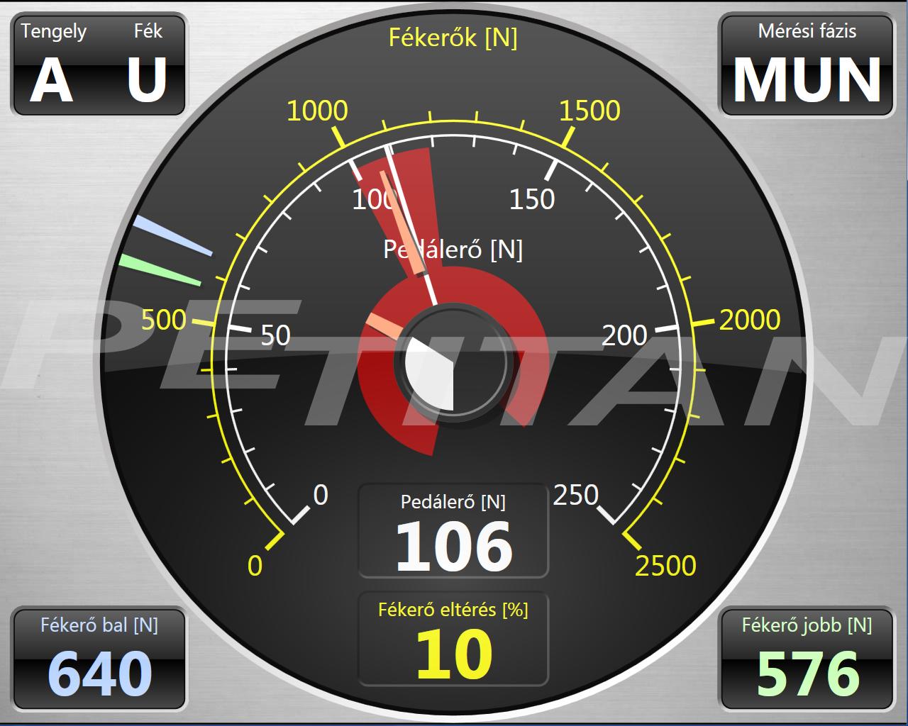 PeTitan PEFT 16 teher-személy kombinált fékerőmérő szett 2