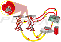 Sice PSC 3000 duplaollós küszöbemelő 2