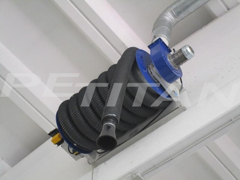 Filcar DRWA-100/7.5-COMP tömlődobos kipufogógáz-elszívó 2