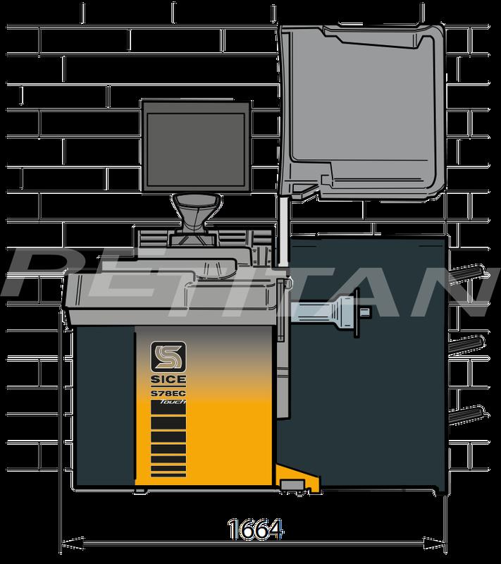 Sice S78E C Touch személy kerékkiegyensúlyozó 2