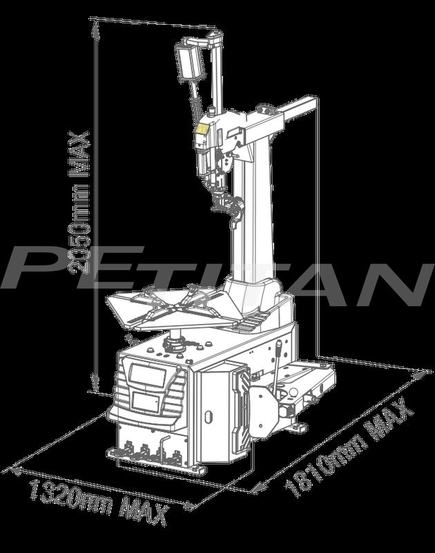 Sice FL44A LL 2V szerelővas mentes kerékszerelő 2