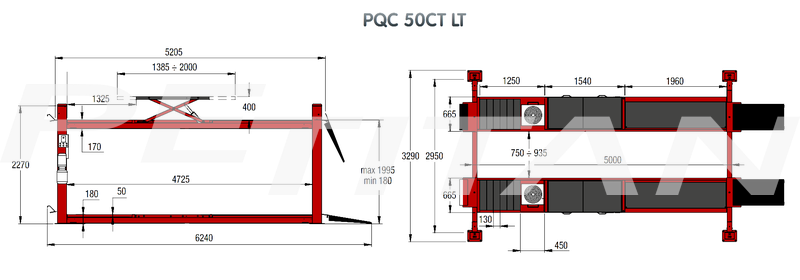 Sice PQC 50 CT LT négyoszlopos emelő 2