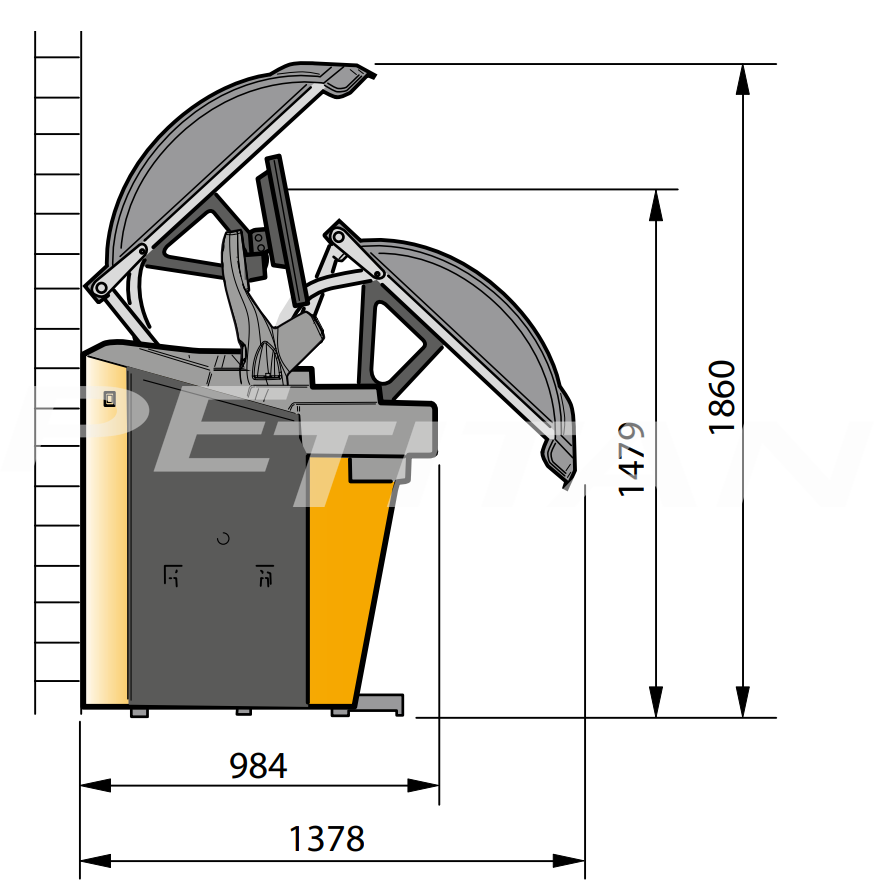 Sice S75E Touchscreen személy kerékkiegyensúlyozó 2